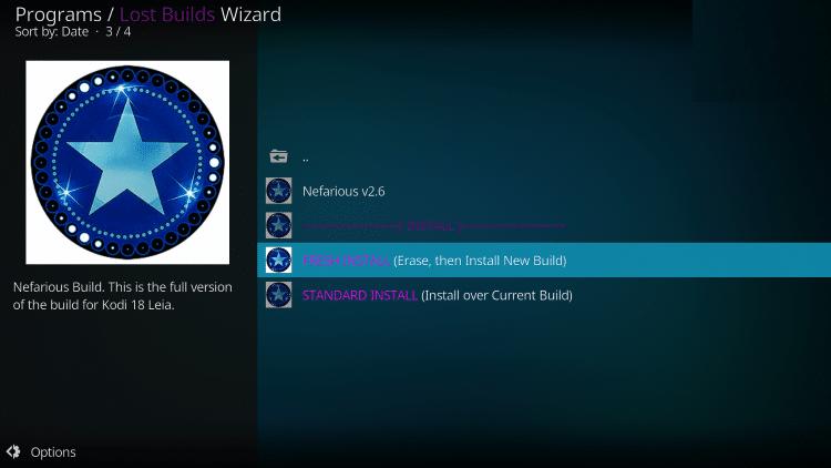 install nefarious build on kodi