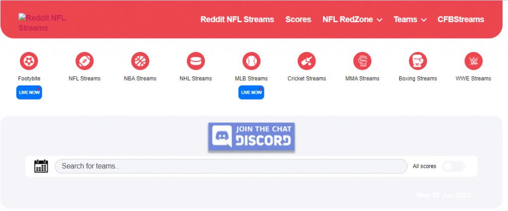 NFLBite - free sports streaming sites