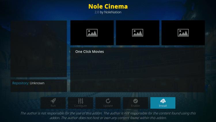nole cinema kodi scan