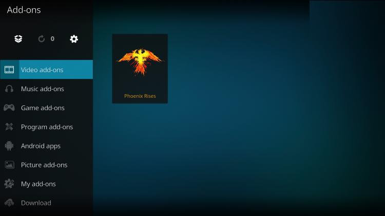 phoenix rises addon kodi