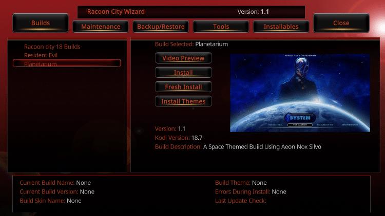 planetarium kodi build all in one