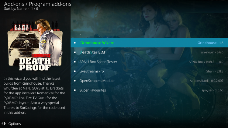 install spaced out build on kodi