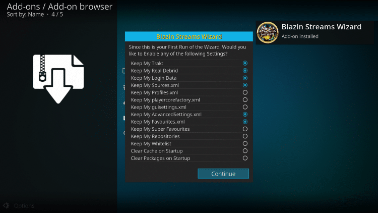 blaze kodi build main menu