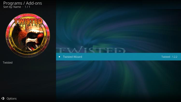 twisted kodi builds system