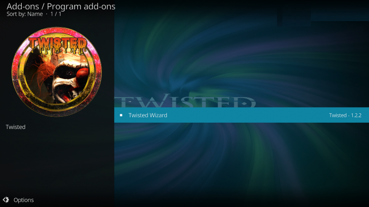 how to install Twisted kodi build