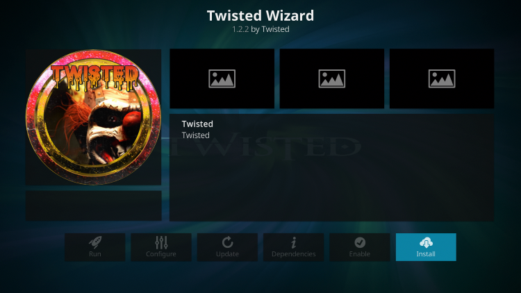 how to install Twisted wizard on kodi