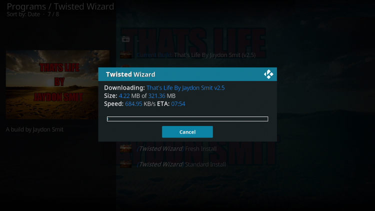 That's it! You have now successfully installed the Twisted Kodi Builds
