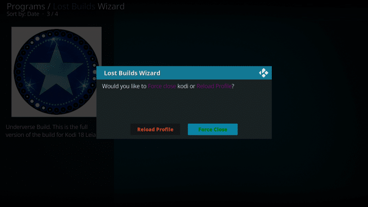 Wait for the Underverse build to download