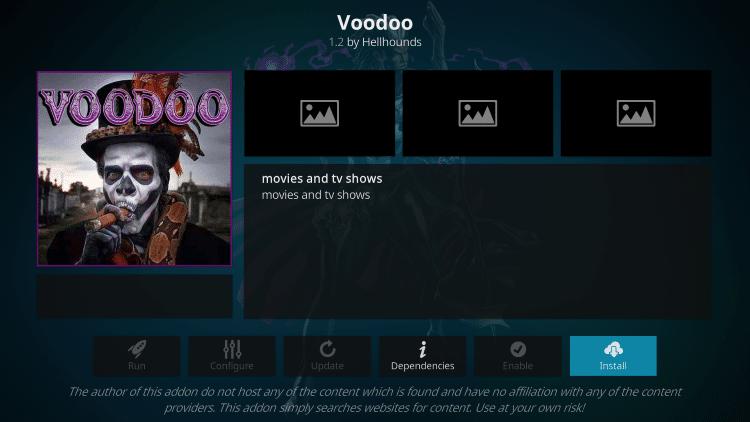 voodoo kodi scan