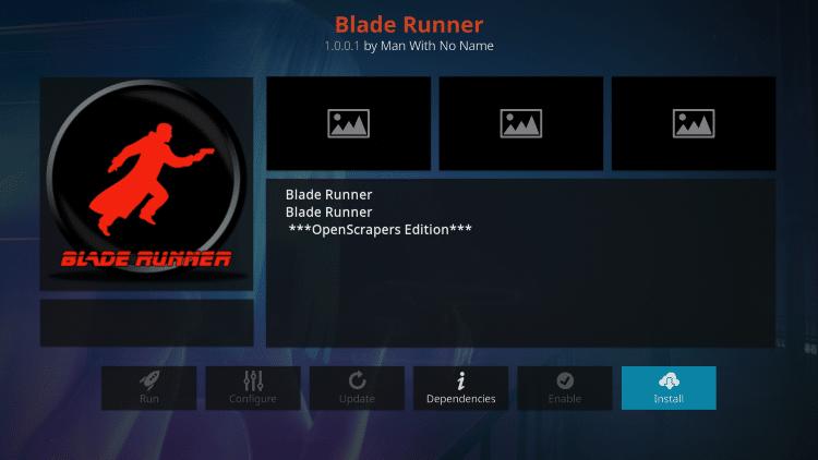 is blade runner kodi addon safe