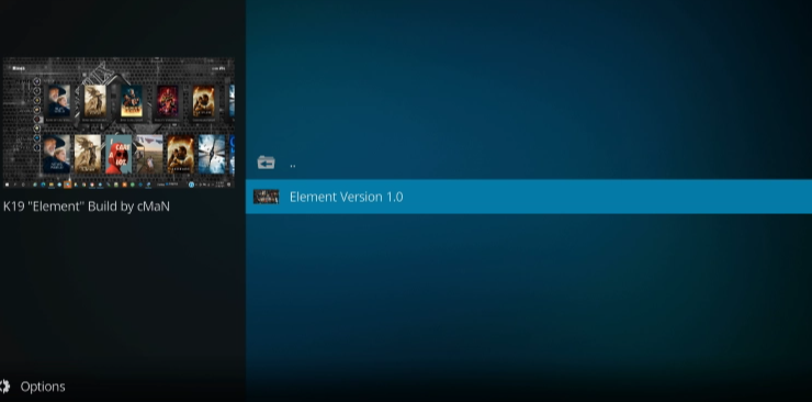how to install element kodi build