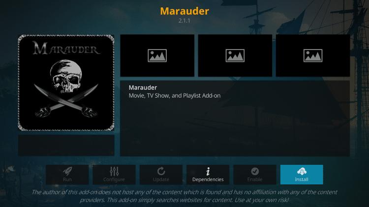 is marauder kodi addon safe