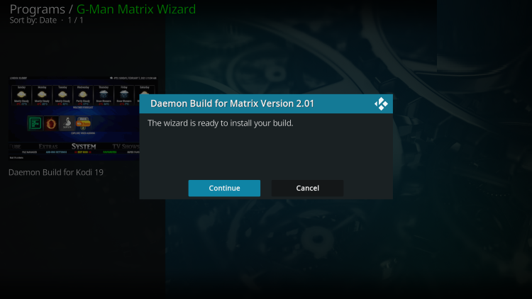 daemon kodi build