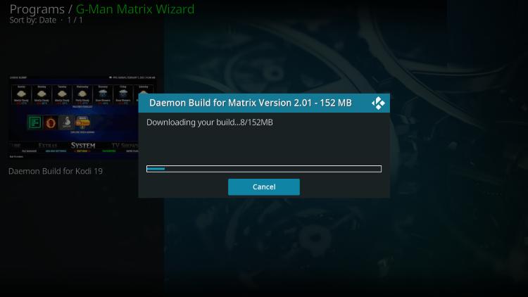 wait for daemon kodi build to install