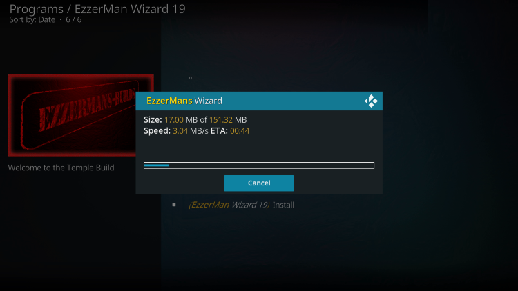 how to use temple build on kodi